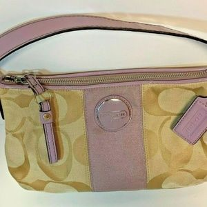 Authentic COACH Small Purple Lavender Tan Purse